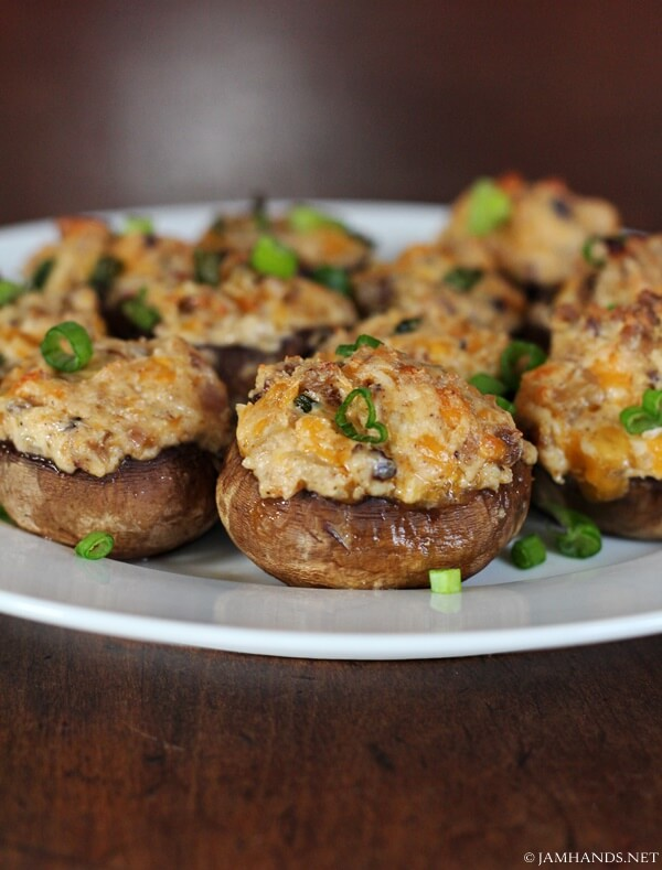 Cajun Sausage and Cream Cheese Mushrooms