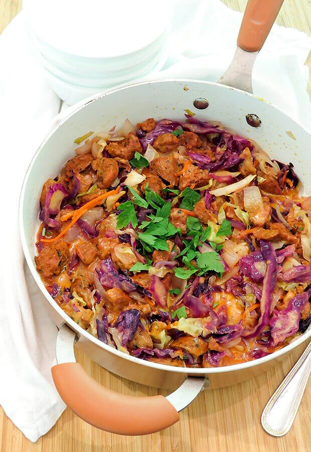 Sausage Cabbage Skillet Melt
