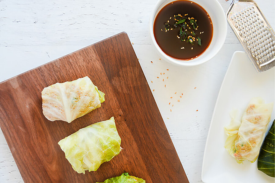 Steamed Pork Cabbage Rolls