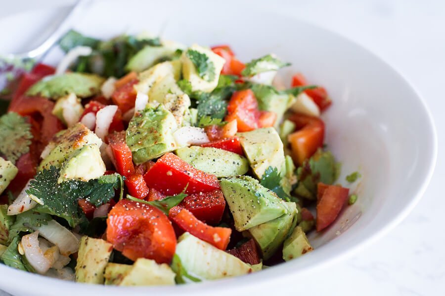 Spicy Avocado Salad