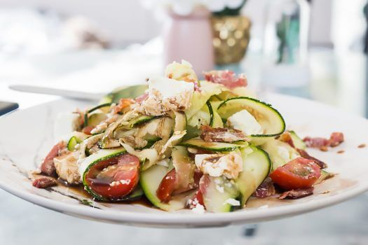 Zucchini Ribbon Side Salad