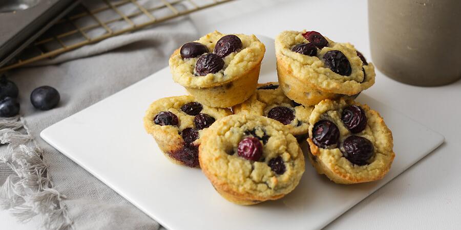 Keto Blueberry Pancake Bites