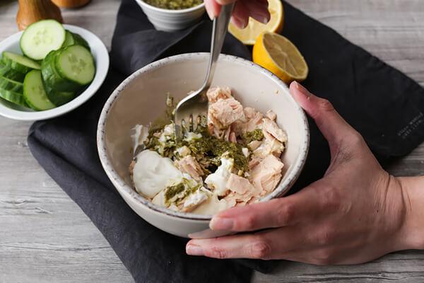 Keto Tuna Salad with Pesto