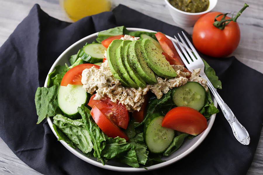 Keto Tuna Salad with Pesto