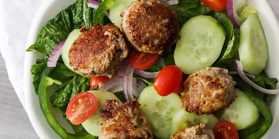 Keto Meaty Mediterranean Lunch Bowls