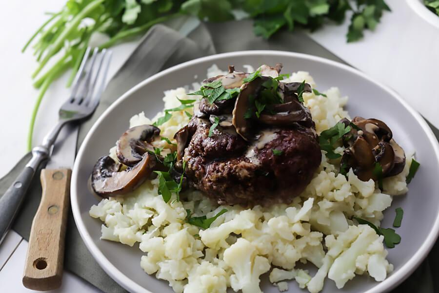 Keto Salisbury Steak with Mashed Cauliflower