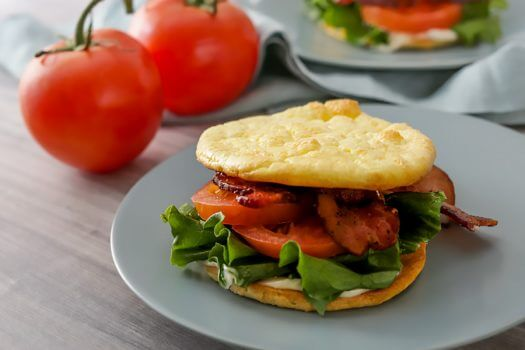 Keto Cloud Bread BLT