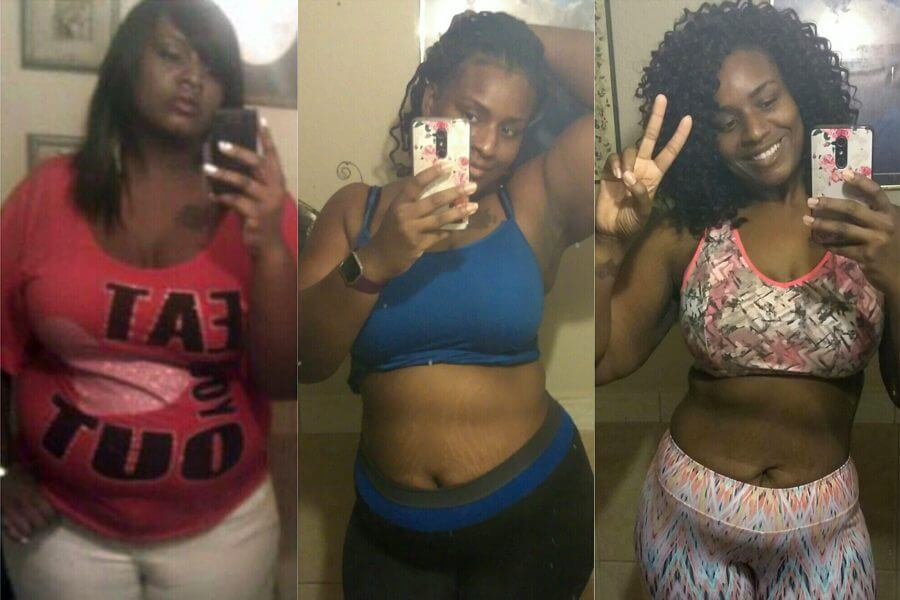 70 pounds weight loss before and after