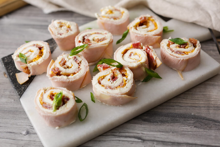 Keto Turkey, Bacon, and Ranch Pinwheels