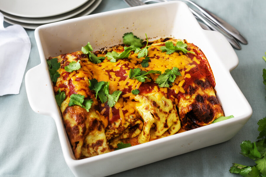 Keto Breakfast Enchiladas