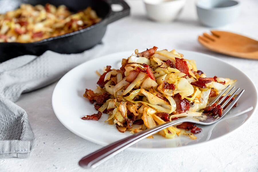 One-Pan Cabbage and Bacon Keto Bowl