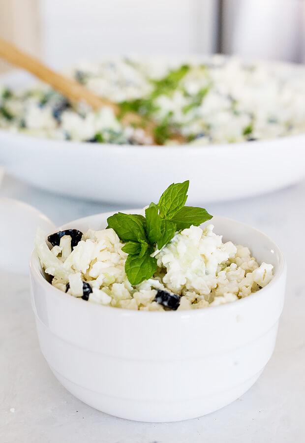 Greek Cauliflower Salad