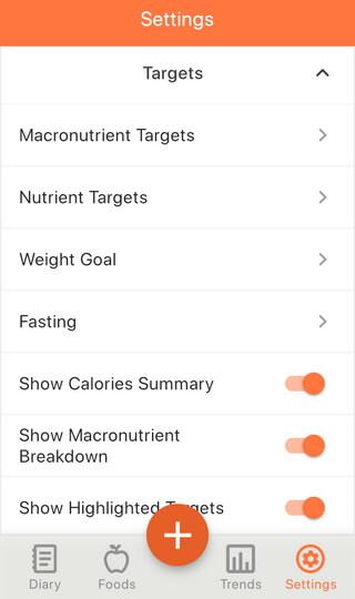 Nutrient Targets