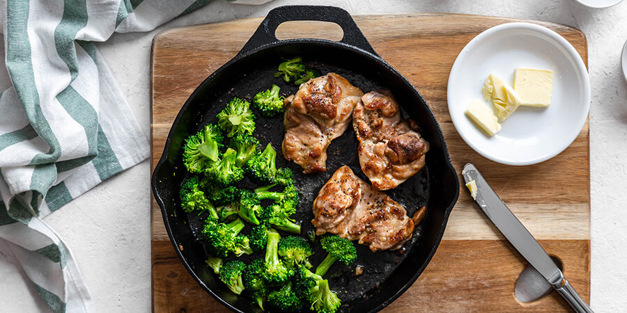 Keto Fried Chicken and Broccoli