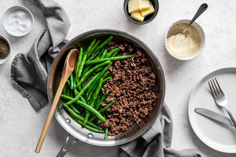 Easy One-Pan Ground Beef and Green Beans