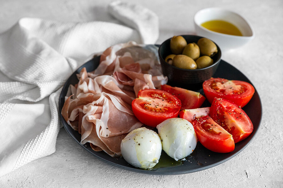 Easy Keto Italian Plate
