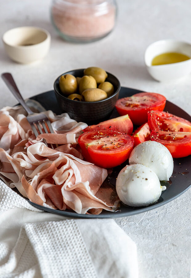 Keto Italian Lunch Plate