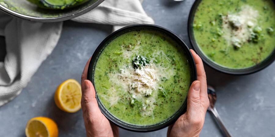Low-Carb Broccoli Lemon Parmesan Soup