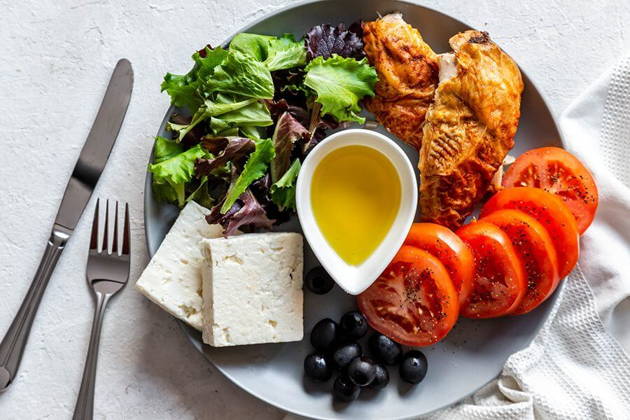 Easy Chicken and Feta Plate