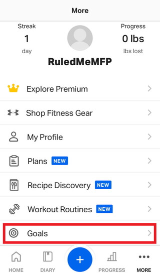 Setting Your Macronutrient Ratios and Calorie Goals with MyFitnessPal 2