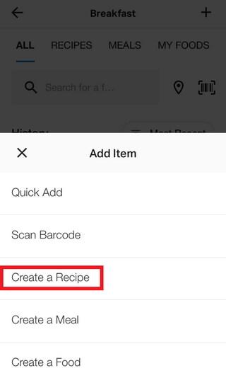 Create a Recipe