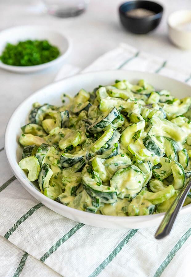 Cold Zucchini Salad