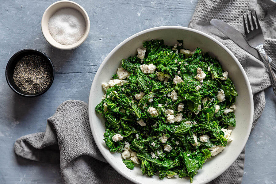 Keto Warm Kale Salad