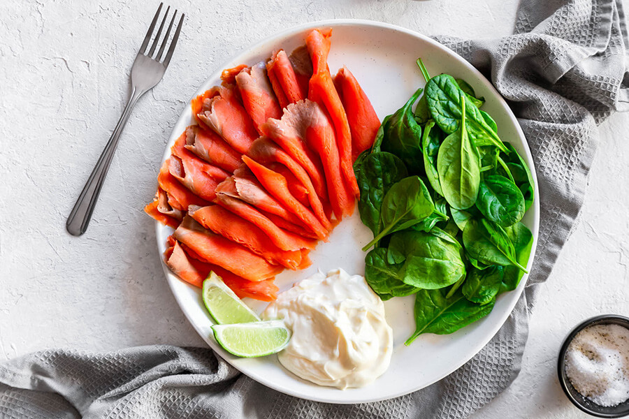 Easy Keto Smoked Salmon Lunch Bowl