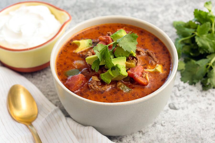Creamy Keto Taco Soup