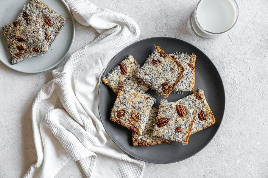 Coconut Chia Bars Featured