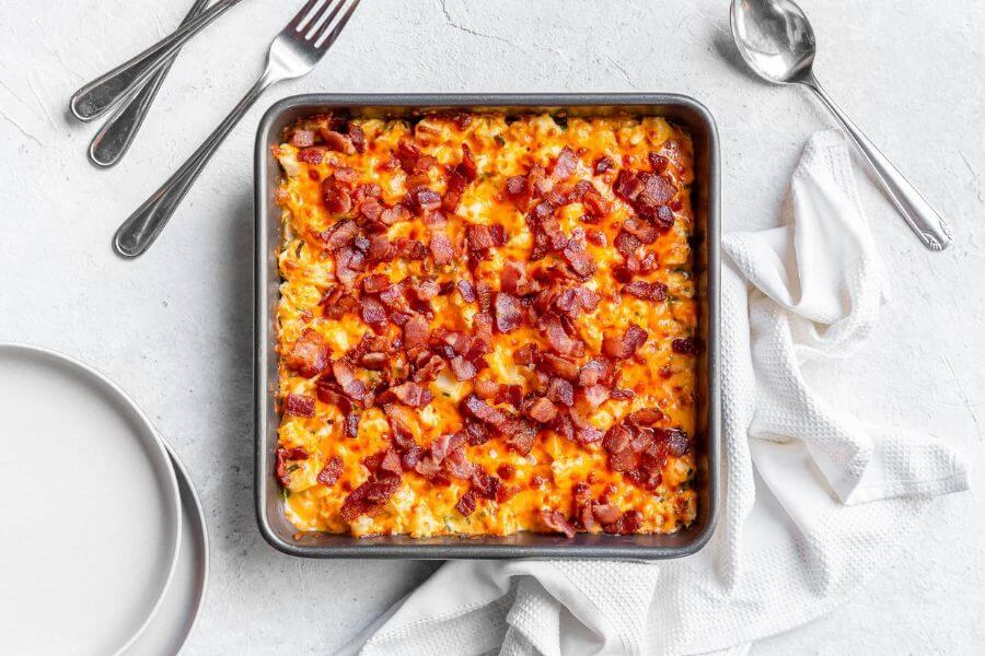 Bacon Loaded Cauliflower Casserole