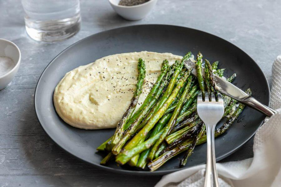 Brown Butter Asparagus with Creamy Eggs