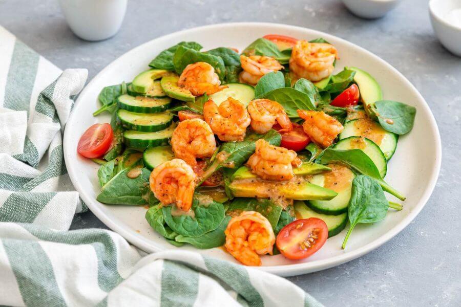 Spicy Shrimp Salad Featured