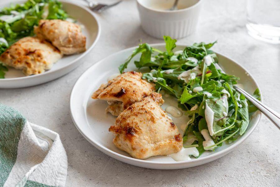 Keto Baked Caesar Chicken