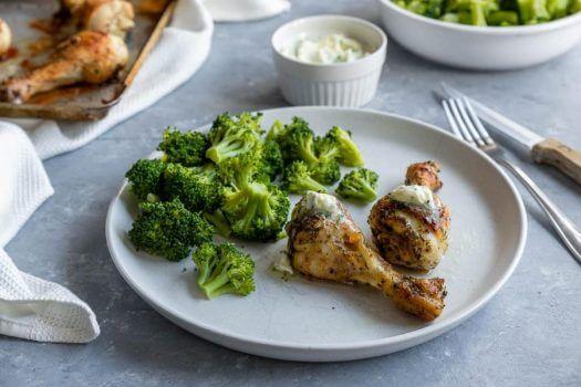 Roast Chicken Broccoli Garlic Featured