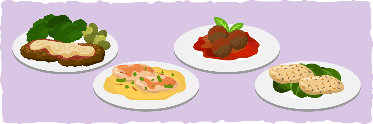 Keto Italian Meat and Seafood Dinner Entrees