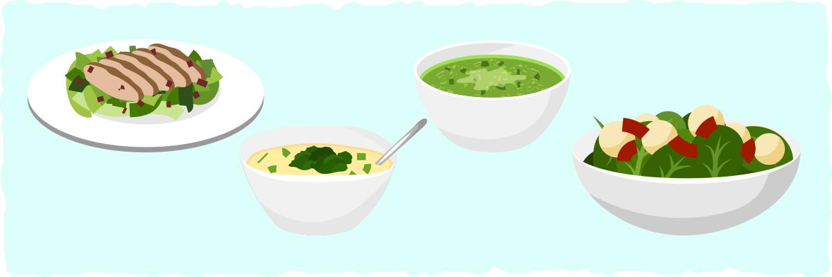 Italian Keto Soup and Salad
