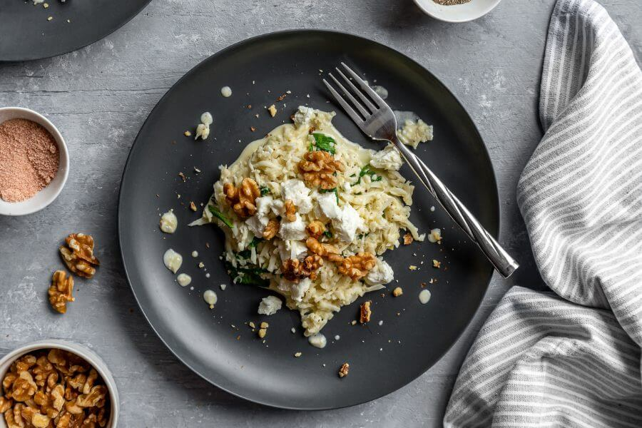 Keto Walnut Cauliflower Risotto