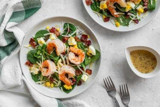 Shrimp Salad with Bacon Fat Dressing Featured