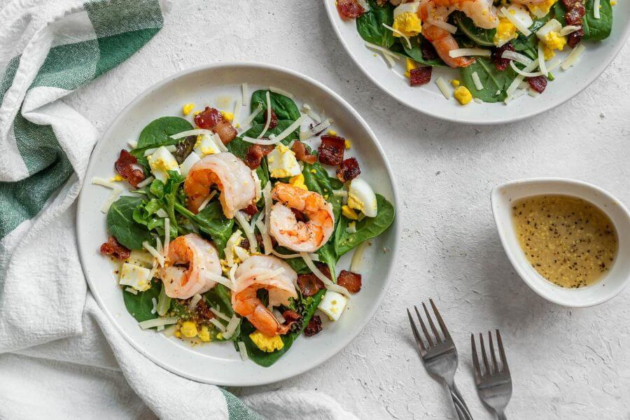 Shrimp Salad with Hot Bacon Dressing
