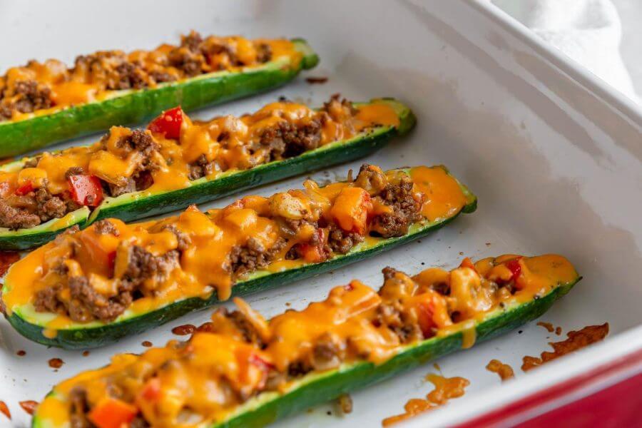 Keto Zucchini Burrito Boats