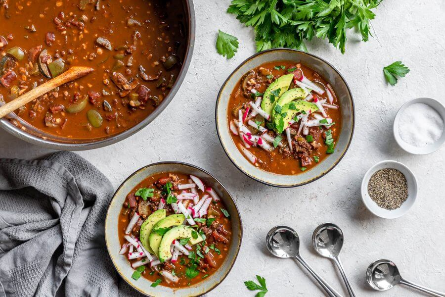 Keto Vegan Walnut Chili