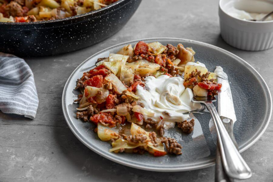 Beef Cabbage Skillet