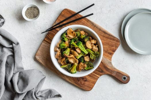 Chicken Mushroom Broccoli Stir Fry Featured