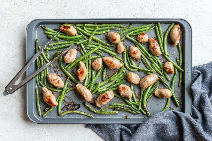 Green Beans & Sausage Sheet Pan