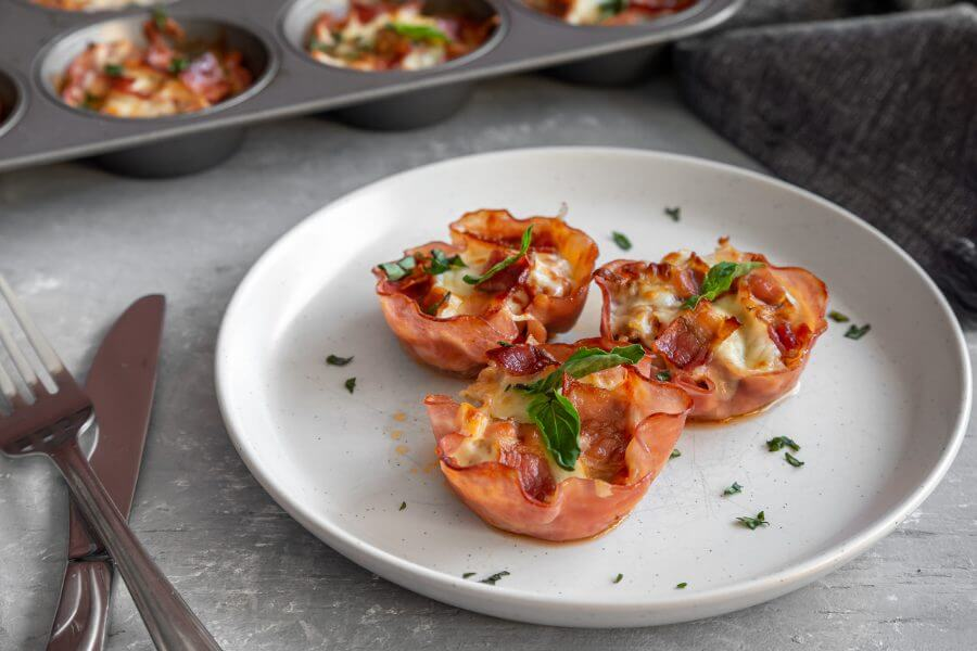 Keto Meat Lover Pizza Cups