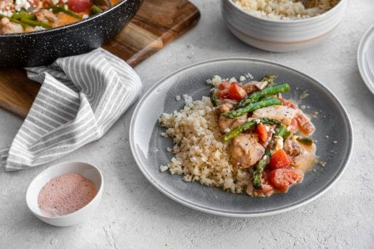 Chicken and Goat Cheese Skillet Featured