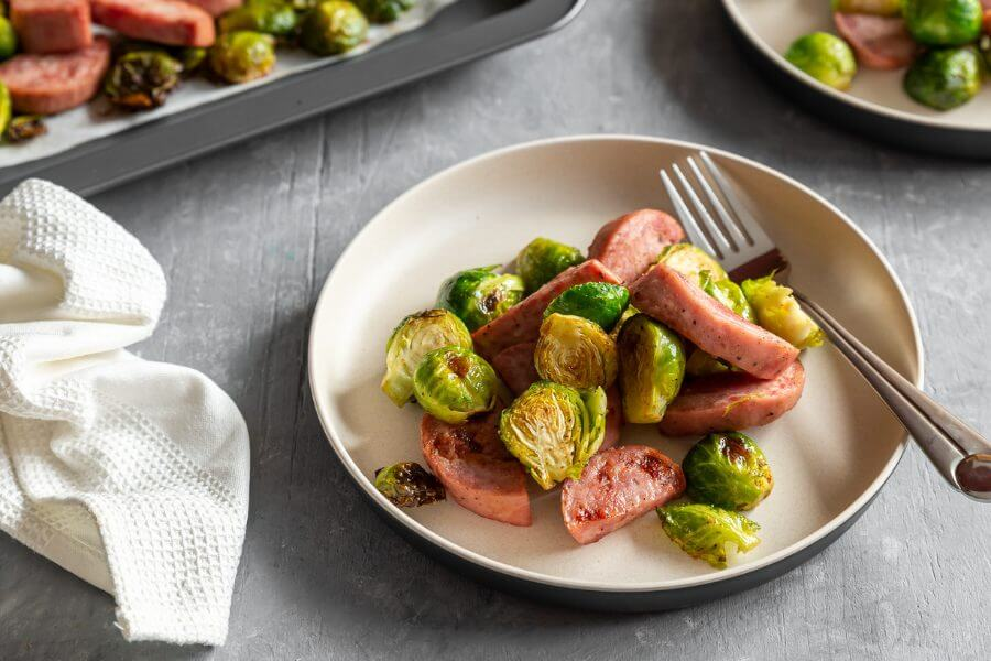 Sausage and Brussel Sprout Sheet Pan Meal