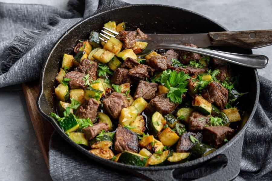 Keto Steak Zucchini Skillet