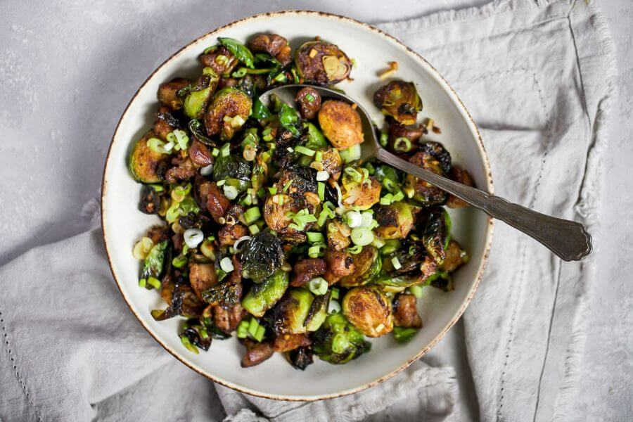 Asian Pork Belly Brussels Sprouts